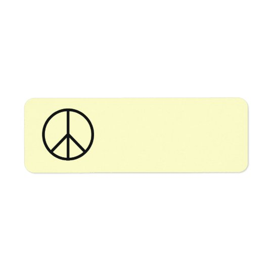 Peace Sign Label- Customise Background Colour Return Address Label