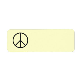 Peace Sign Label- Customize Background Color Return Address Label