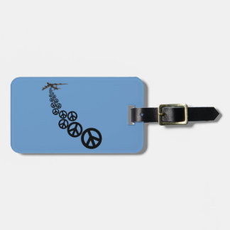 Peace sign luggage tag