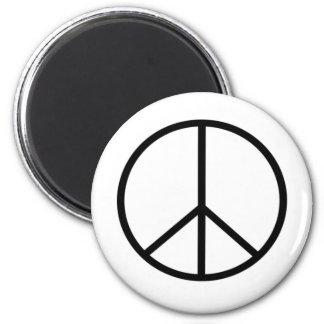 Peace Sign 6 Cm Round Magnet