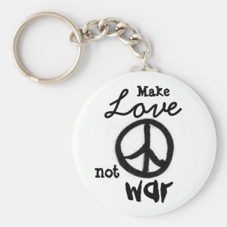 peace-sign, Make, Love, not, war - Customized Key Ring