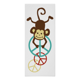 Peace Sign Monkeys