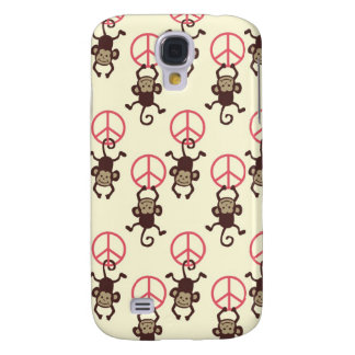 Peace Sign Monkeys Galaxy S4 Cases