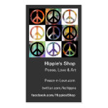 Peace Sign Mosaic Custom Business Cards