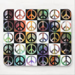 Peace Sign Mosaic Mouse Mat