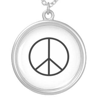 Peace Sign Custom Necklace