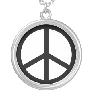 Peace Sign Personalized Necklace