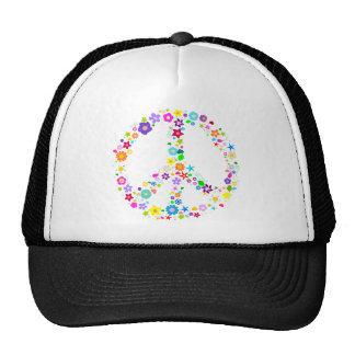 Peace sign of Flowers Cap