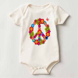 Peace Sign Organic Baby Baby Bodysuit