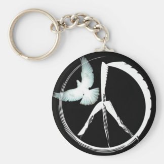 Peace sign Original Design by Bestpeople Basic Round Button Key Ring