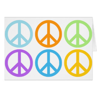 Peace Sign Pattern Card