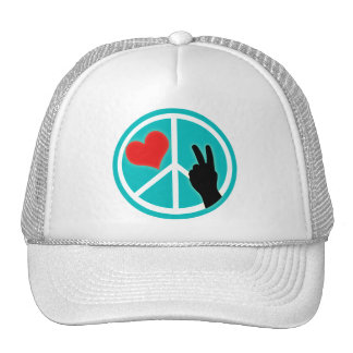 Peace Sign Peace and Love Cap