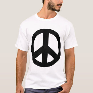 Peace Sign Peace Symbol Black T-Shirt