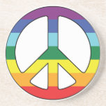 Peace Sign Peace Symbol with Flag Colours