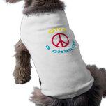 Peace Sign Pet Tee Shirt