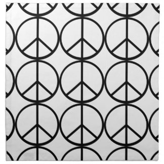 Peace sign printed napkin