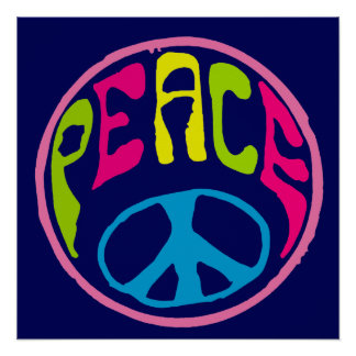 Peace Sign Psychedelic Hippie Style