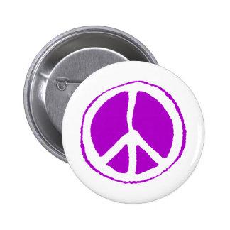 Peace Sign Purple - Button