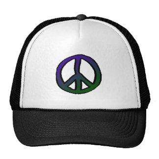 Peace Sign Purple Green Grad Cap