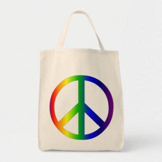 Peace Sign Rainbow Bag