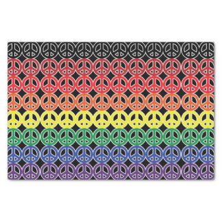 Peace Sign Rainbows Tissue Paper