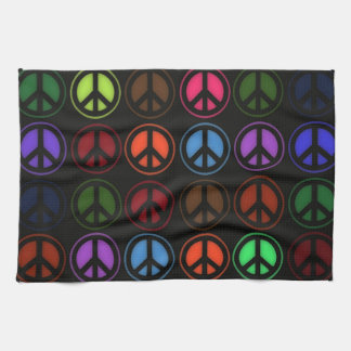 Peace Sign Retro Hippy Love Towels