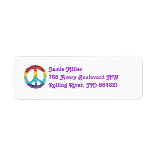 Peace sign return address label