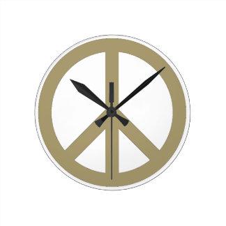 Peace Sign Round Clock