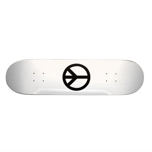 Peace Sign Skate Board Deck