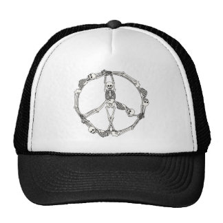 Peace Sign Skeletons Hats