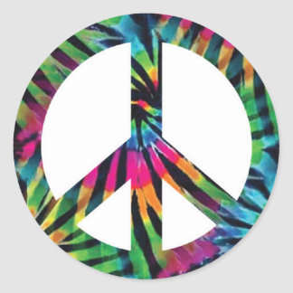 Peace Sign Stickers - Rainbow Hippy Hippie Design