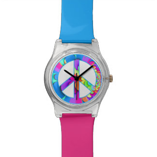 Peace Sign Summer Palette Fractal Watches