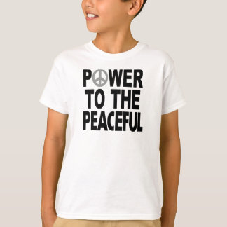 "Peace Sign T-Shirt - ""Power to the Peaceful"""