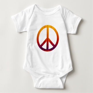Peace Sign Textured Red and Orange Baby Bodysuit