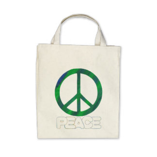Peace Sign, Tote Bags