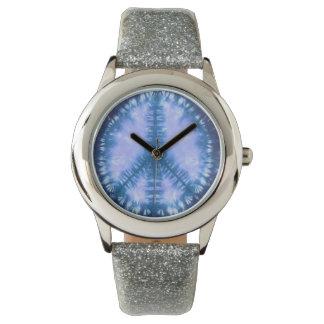 Peace sign tye dye wrist watches