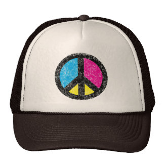 Peace Sign Vintage Mesh Hat