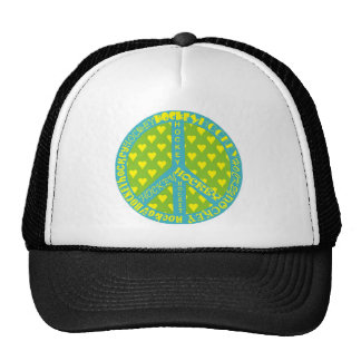Peace Sign with Hockey in Frame Trucker Hat
