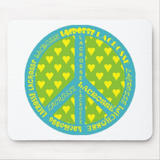 Peace Sign with Lacrosse in Frame Mousepads