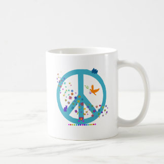 Peace Sign with Rainbow Colors Coffee Mug