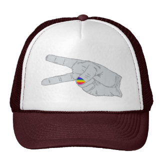 Peace Sign With Rainbow Nail Cap