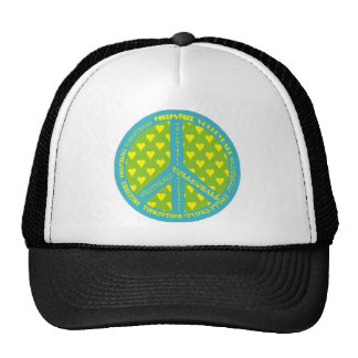 Peace Sign with Volleyball in Frame Trucker Hat