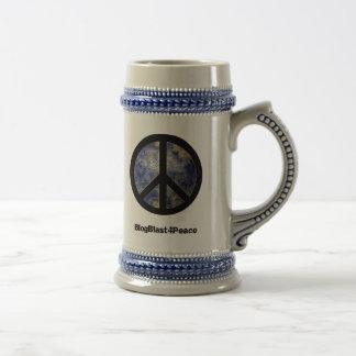 Peace Sign World Globe Beverage Stein Beer Steins