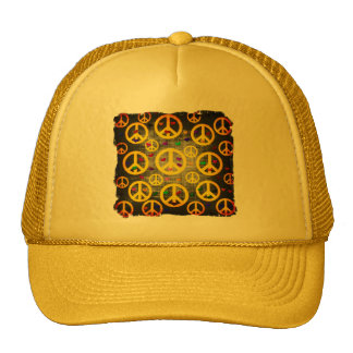 Peace Signs and Hearts Trucker Hat