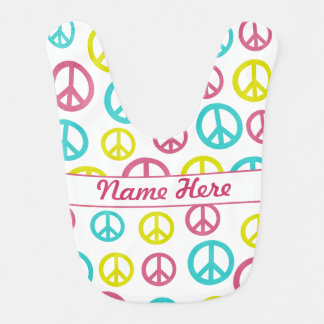 Peace Signs Bib