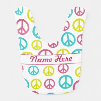 Peace Signs Bibs