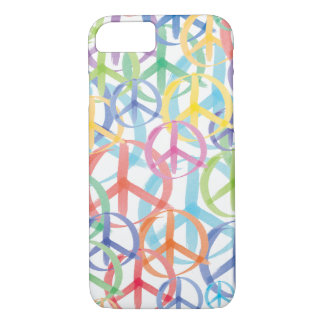 Peace Signs in Watercolor iPhone 8/7 Case