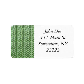 Peace Signs on Holiday Pine Green Address Label