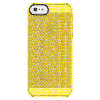 Peace Signs on Sunny Yellow Clear iPhone SE/5/5s Case