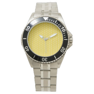 Peace Signs on Sunny Yellow Watch